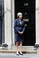 JUN 11 Theresa May Hosts Nepal PM At Downing Street
