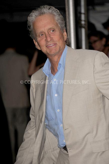 WWW.ACEPIXS.COM . . . . . .June 9, 2011...New York City...Michael Douglas enters the Stephan Weiss Studios on June 9, 2011 in New York City.  on June 9, 2011 in New York City.....Please byline: KRISTIN CALLAHAN - ACEPIXS.COM.. . . . . . ..Ace Pictures, Inc: ..tel: (212) 243 8787 or (646) 769 0430..e-mail: info@acepixs.com..web: http://www.acepixs.com .
