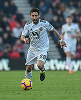 Wolverhampton Wanderers' Joao Moutinho<br /> <br /> Photographer David Horton/CameraSport<br /> <br /> The Premier League - Bournemouth v Wolverhampton Wanderers - Saturday 23 February 2019 - Vitality Stadium - Bournemouth<br /> <br /> World Copyright © 2019 CameraSport. All rights reserved. 43 Linden Ave. Countesthorpe. Leicester. England. LE8 5PG - Tel: +44 (0) 116 277 4147 - admin@camerasport.com - www.camerasport.com