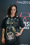 Alizee poses at a photocall for the TV series 'Dance with the star' during the 55th Monte Carlo TV Festival on June 13, 2015 in Monte-Carlo, Monaco