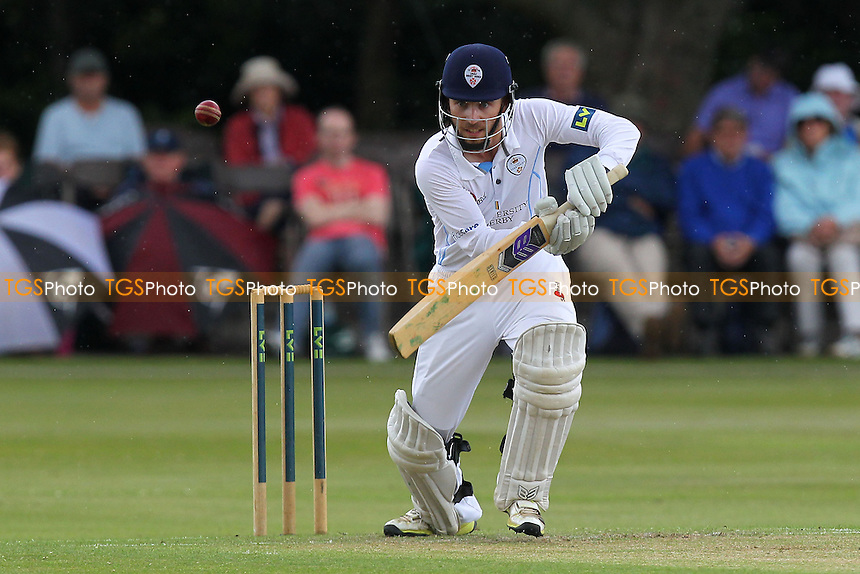 Paul Borrinngton in batting action for Derbyshire - Derbyshire CCC vs Essex CCC - LV County Championship Division Two Cricket at Queen's Park, Chesterfield - 07/07/14 - MANDATORY CREDIT: Gavin Ellis/TGSPHOTO - Self billing applies where appropriate - 0845 094 6026 - contact@tgsphoto.co.uk - NO UNPAID USE