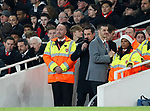 Sky presenter Gary Neville waits by the pitch for the final whistle during the premier league match at the Emirates Stadium, London. Picture date 22nd December 2017. Picture credit should read: David Klein/Sportimage