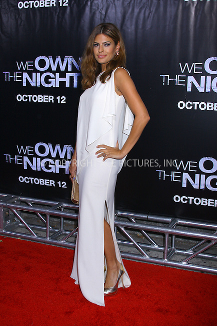 WWW.ACEPIXS.COM . . . . .  ....October 9 2007, New York City....Actor Eva Mendes arriving at the 'We Own The Night' film premiere at the Chelsea West Cinema.....Please byline: AJ Sokalner - ACEPIXS.COM..... *** ***..Ace Pictures, Inc:  ..te: (646) 769 0430..e-mail: info@acepixs.com..web: http://www.acepixs.com