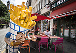 "BRUSSELS - BELGIUM - 22 June 2016 -- Brussels city - Frites and Mayo (French fries and mayonnaise) is the ""must-eat"" . -- PHOTO: Juha ROININEN / EUP-IMAGES Käyttöoikeus: vain ET brändi"