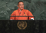72 General Debate &ndash; 22 September <br /> <br /> His Excellency Lyonchoen Tshering Tobgay, Prime Minister of the Kingdom of Bhutan