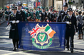 15 March 2009. London/United Kingdom. Irish celebrations in London with the traditional St Patrick's Day Parade. The Metropolitan Police Service's Emerald Society. (Photo: Bettina Strenske)