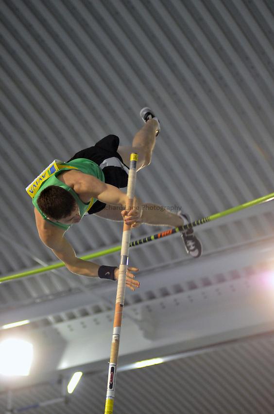 Photo: Tony Oudot/Richard Lane Photography. Aviva World Trials & UK Championships. 14/02/2010. .Mens Pole Vault, .Martin Densley.
