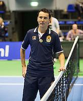 21-12-13,Netherlands, Rotterdam,  Topsportcentrum, Tennis Masters, Sven Vermeulen (NED) umpire<br /> Photo: Henk Koster