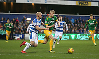 Queens Park Rangers' Toni Leistner challenges Preston North End's Jayden Stockley<br /> <br /> Photographer Rob Newell/CameraSport<br /> <br /> The EFL Sky Bet Championship - Queens Park Rangers v Preston North End - Saturday 19 January 2019 - Loftus Road - London<br /> <br /> World Copyright &copy; 2019 CameraSport. All rights reserved. 43 Linden Ave. Countesthorpe. Leicester. England. LE8 5PG - Tel: +44 (0) 116 277 4147 - admin@camerasport.com - www.camerasport.com