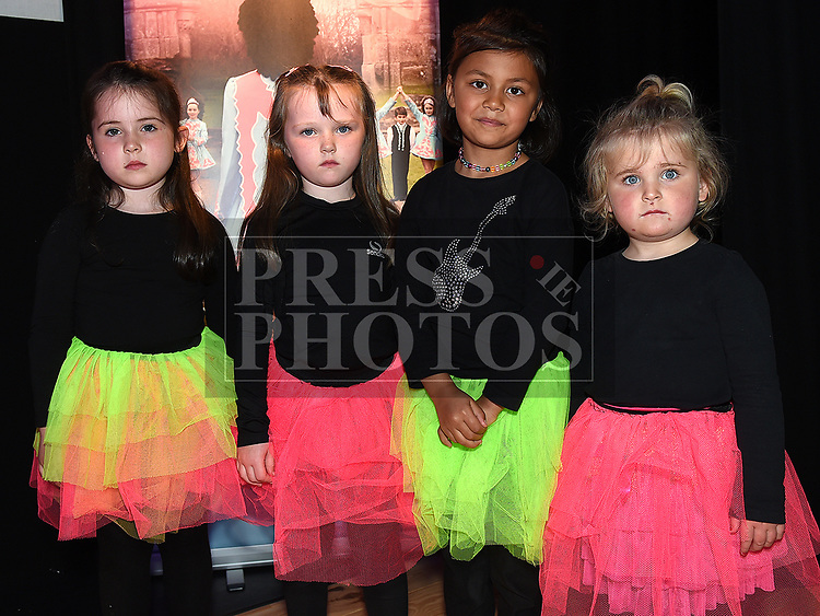 Zoe McGann, Emily Porter, Ruby Collins and Lacey Lawlor who took part in the Caroline Campbell Academy of Irish Dancing show in the Droichead Arts Centre. Photo:Colin Bell/pressphotos.ie