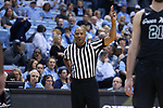 CHAPEL HILL, NC - DECEMBER 03: Referee Bert Smith. The University of North Carolina Tar Heels hosted the Tulane University Green Wave on December 3, 2017 at Dean E. Smith Center in Chapel Hill, NC in a Division I men's college basketball game. UNC won the game 97-73.