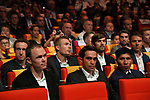 Current Champion Christopher Froome (GBR), Alberto Contador (ESP) and Nairo Quintana (COL) amongst the riders at the Tour de France 2018 route presentation held at Palais de Congress, Paris, France. 17th October 2017.<br /> Picture: ASO/Bruno Bade | Cyclefile<br /> <br /> <br /> All photos usage must carry mandatory copyright credit (&copy; Cyclefile | ASO/Bruno Bade)
