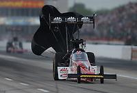 Apr. 26, 2013; Baytown, TX, USA: NHRA top fuel dragster driver Doug Kalitta during qualifying for the Spring Nationals at Royal Purple Raceway. Mandatory Credit: Mark J. Rebilas-