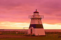 Big Tignish Lighthouse at sunrise<br />