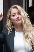 London, UK - 27 July 2020<br /> Amber Heard attends libel trial against the Sun at The Royal Courts of Justice.<br /> CAP/JOR<br /> ©JOR/Capital Pictures