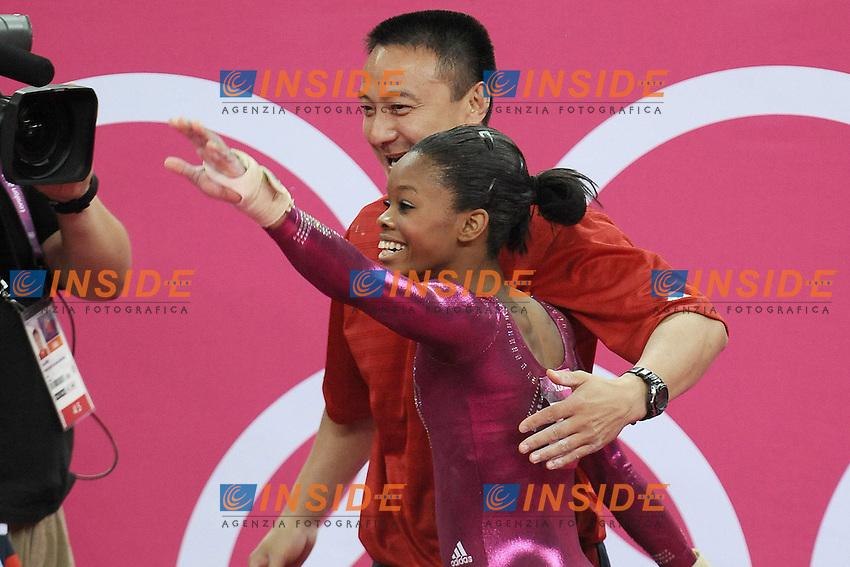 Gabrielle Douglas e Lian Chow.London 02/08/2012 .London 2012 Olympic games  Women Gymnastic Artistic - Olimpiadi Londra 2012 Ginnastica artistica femminile concorso generale individuale.Foto Imago / Insidefoto.ITALY ONLY..