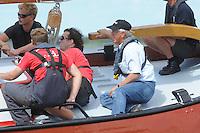 ZEILEN: ECHTENERBRUG: 08-08-2013, IFKS Sk&ucirc;tsjesilen, A klasse Groot, schipper Sikke Heerschop met het Sk&ucirc;tsje ' WYLDE WYTSE'<br /> &copy;foto Martin de Jong