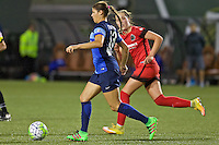 Portland, Oregon - Saturday July 9, 2016: FC Kansas City defender Brittany Taylor (13) during a regular season National Women's Soccer League (NWSL) match at Providence Park.
