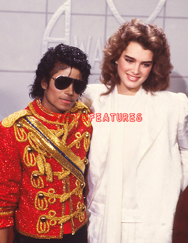 Michael Jackson 1984 American Music Awards with Brooke Shields.© Chris Walter.