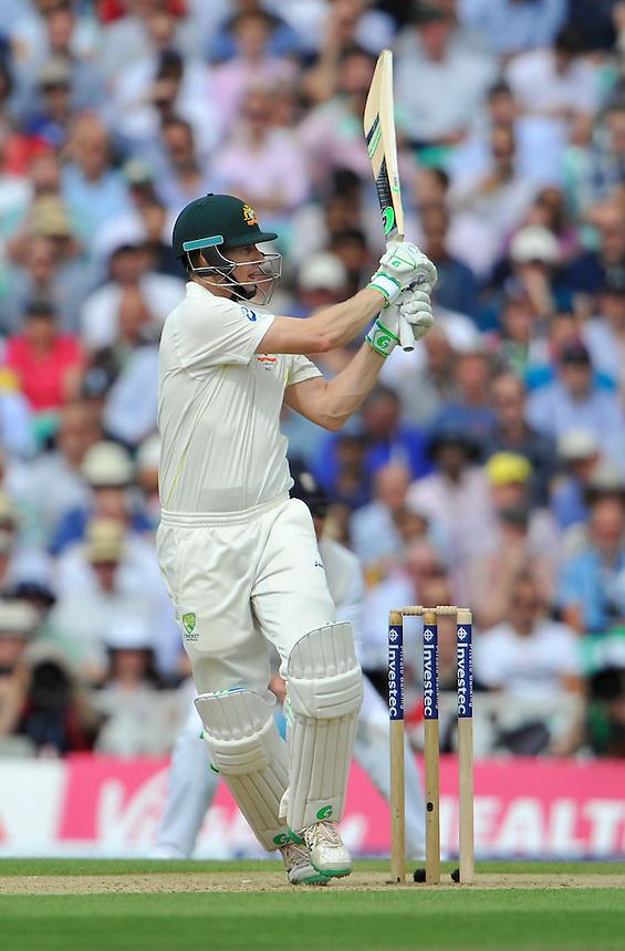 Australia's Adam Voges in action today during his innings of 76<br /> <br /> Photographer Ashley Western/CameraSport<br /> <br /> International Cricket - Investec Ashes Test Series 2015 - Fifth Test - England v Australia - Day 2 - Friday 21st August 2015 - Kennington Oval - London<br /> <br /> &copy; CameraSport - 43 Linden Ave. Countesthorpe. Leicester. England. LE8 5PG - Tel: +44 (0) 116 277 4147 - admin@camerasport.com - www.camerasport.com
