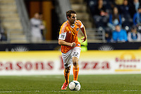 Brian Ownby (22) of the Houston Dynamo. The Houston Dynamo defeated the Philadelphia Union 1-0 during a Major League Soccer (MLS) match at PPL Park in Chester, PA, on September 14, 2013.