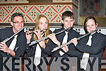 Talented young musicians at the Gleneagle Concert band concert in St Mary's church, Killarney on Saturday night front row l-r: Mark Bright, Jildau Laumans, Matthew Claret and Hannah Winfield..