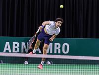 Rotterdam, Netherlands, 11 februari, 2018, Ahoy, Tennis, ABNAMROWTT, Qualifying final,  Pierre-Hugues Herbert (FRA)<br /> Photo: Henk Koster/tennisimages.com