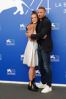 French actress Adele Exarchopoulos, left, and Belgian actor Matthias Schoenaerts attend a photo call for the movie 'Le Fidele' at the 74th Venice Film Festival on September 8, 2017 in Venice, Italy.<br /> UPDATE IMAGES PRESS/Marilla Sicilia<br /> <br /> *** ONLY FRANCE AND GERMANY SALES ***