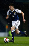Kieran Tierney of Scotland during the Vauxhall International Challenge Match match at Hampden Park Stadium. Photo credit should read: Simon Bellis/Sportimage