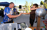 Zach Kitht, 10, plays tag with Dennis Martell and a static generator during the Journey of Hope event at Western Nevada College in Carson City, Nev., on Friday, June 12, 2015. Nearly 30 cyclist rode into town Friday as part of the Pi Kappa Phi fraternity&rsquo;s cross-country ride to bring awareness and support to people with disabilities.<br /> Photo by Cathleen Allison/Nevada Photo Source