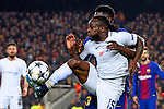 UEFA Champions League 2017/2018.<br /> Round of 16 2nd leg.<br /> FC Barcelona vs Chelsea FC: 3-0.<br /> Samuel Umtiti vs Victor Moses.