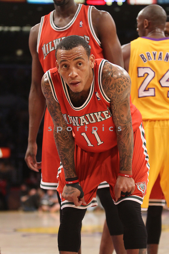 Milwaukee Bucs Monta Ellis (11) in action during a game against the Lakers on January 15, 2013 at the Staples Center in Los ANgeles, CA. The Lakers beat the Bucs 104-88.