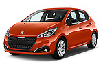 2015 Peugeot 208 Allure 5 Door Hatchback Angular Front stock photos of front three quarter view