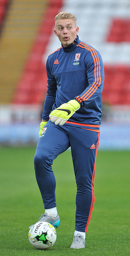 Middlesbrough's Connor Ripley<br /> <br /> Photographer Dave Howarth/CameraSport<br /> <br /> Football - Football Friendly - Barnsley v Middlesbrough - Wednesday 29th July 2015 - Oakwell - Barnsley<br /> <br /> &copy; CameraSport - 43 Linden Ave. Countesthorpe. Leicester. England. LE8 5PG - Tel: +44 (0) 116 277 4147 - admin@camerasport.com - www.camerasport.com