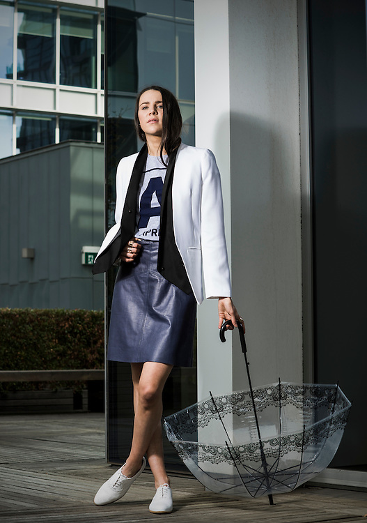 Sunday Mail , Fashion with Cimon, Office Ware , Model Zahra Neis-Tzavaras from Finesse Models.  Photo: Nick Clayton