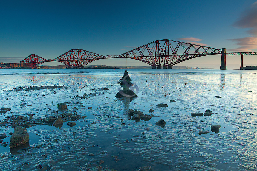 The Forth Road Bridge and the Firth of Forth from Queensferry, Lothian