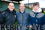 Paudie Fitzgerald James Collins and Mark Fitzgerald, pictured at the Garvey's Senior Football Championship, Dr Crokes v South Kerry, at the Austin Stack Park, Tralee on Sunday last.