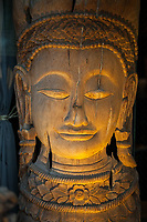 Wood Buddha Statue, Seattle, Washington, USA.