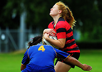 Canterbury v Otago Women on day one of the 2018 Bayleys National Sevens at Rotorua International Stadium in Rotorua, New Zealand on Saturday, 13 January 2018. Photo: Dave Lintott / lintottphoto.co.nz