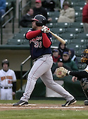 April 12, 2004:  Andy Dominique of the Pawtucket Red Sox, Triple-A International League affiliate of the Boston Red Sox, during a game at Frontier Field in Rochester, NY.  Photo by:  Mike Janes/Four Seam Images