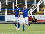 Queen of the South v St Johnstone&hellip;18.08.18&hellip;  Palmerston    BetFred Cup<br />Stephen Dobbie celebrates his penalty<br />Picture by Graeme Hart. <br />Copyright Perthshire Picture Agency<br />Tel: 01738 623350  Mobile: 07990 594431