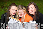 GOOD NEWS: Simona OLeary, Tralee, Stephanie Relihan, Kilflynn, and Natalie Kelliher, Tralee, happy with the good news of their Leaving Cert results on Wednesday at Presentation Secondary School, Tralee..