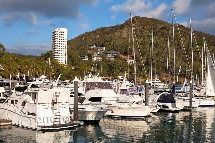 Yachts in Hamilton Island Marina.  Hamilton Island, Whitsundays, Queensland, Australia