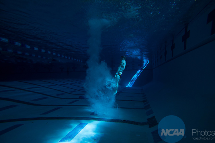 BIRMINGHAM, AL - MARCH 08: Divers compete during the Men's and Women's Swimming & Diving Championship held at the Birmingham CrossPlex on March 08, 2017 in Birmingham, Alabama. (Photo by Matt Marriott/NCAA Photos via Getty Images)
