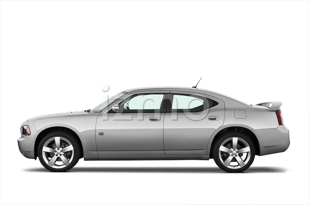 Driver side profile view of a 2008 Dodge Charger Dub.