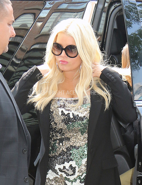 www.acepixs.com<br /> <br /> August 9 2017, New York City<br /> <br /> Actress Jessica Simpson arrives at a midtown hotel on August 9 2017 in New York City<br /> <br /> By Line: Philip Vaughan/ACE Pictures<br /> <br /> <br /> ACE Pictures Inc<br /> Tel: 6467670430<br /> Email: info@acepixs.com<br /> www.acepixs.com