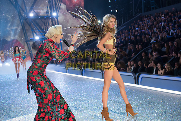 Lady Gaga, Stella Maxwell <br /> Victoria's Secret Fashion Show at the  Grand Palais, Paris, France on 30th November 2016.<br /> CAP/GOL<br /> &copy;GOL/Capital Pictures