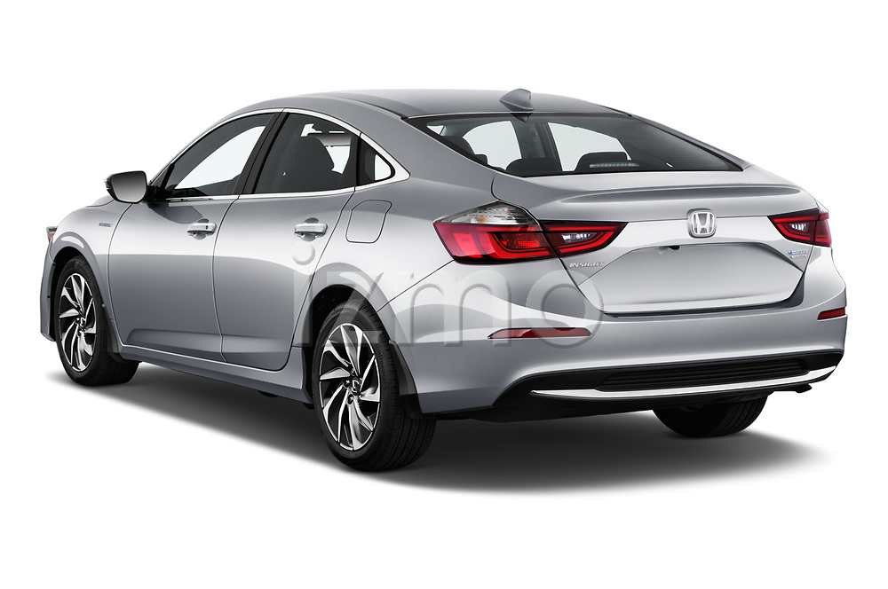 Car pictures of rear three quarter view of a 2020 Honda Insight Touring 5 Door Hatchback angular rear