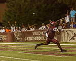 September 21, 2017. Durham, North Carolina.<br /> <br /> NCCU tight end Josh McCoy scored the game winning touchdown. <br /> <br /> The NCCU Eagles won a home game against the the South Carolina State Bulldogs 33-28 at O'Kelly–Riddick Stadium.