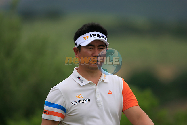 Y.E. Yang (KOR) after teeing off at the 9th tee during Day 2 of the Volvo World Match Play Championship in Finca Cortesin, Casares, Spain, 20th May 2011. (Photo Eoin Clarke/Golffile 2011)